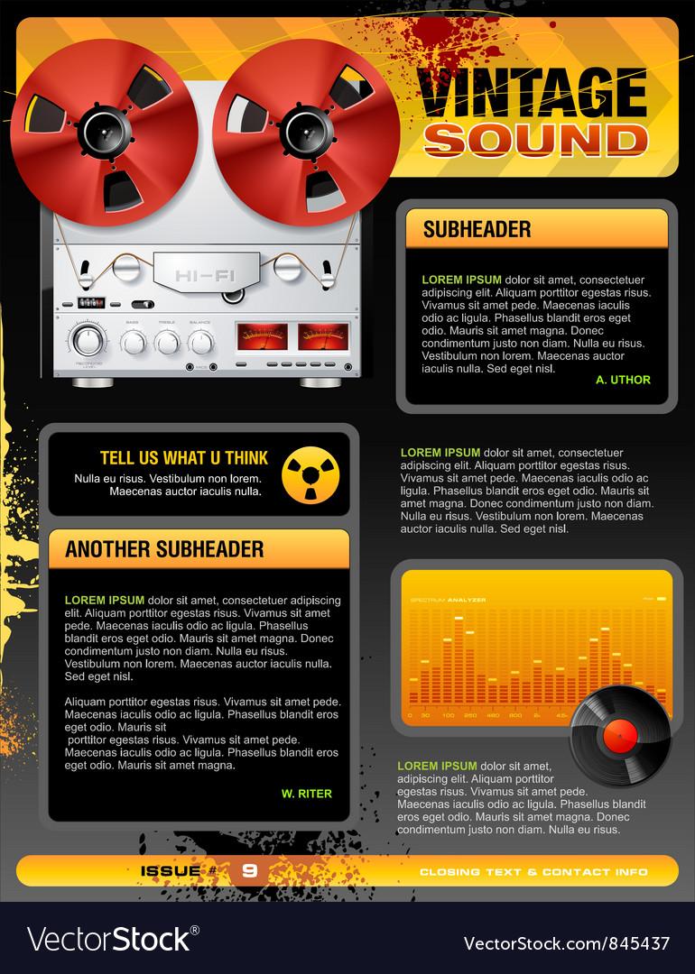 Vintage stereo shop vector | Price: 5 Credit (USD $5)