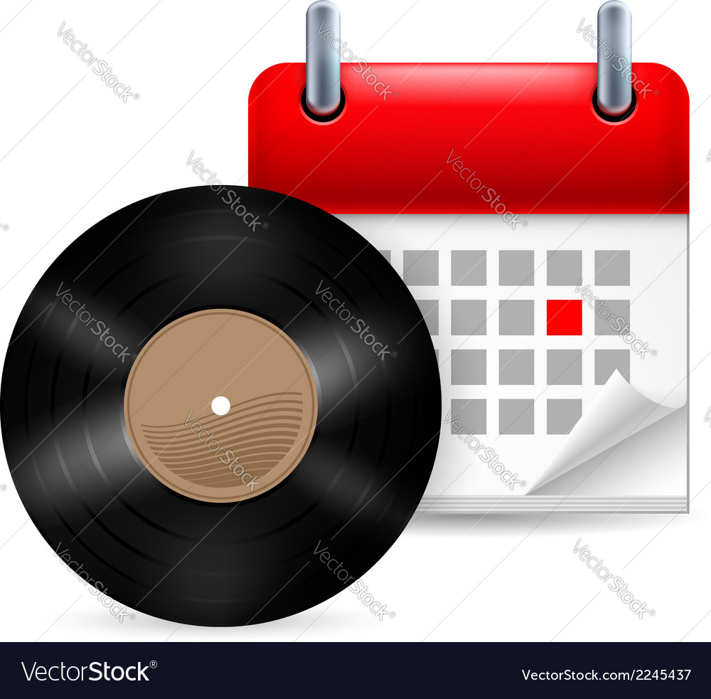 Vynil disc and calendar vector | Price: 1 Credit (USD $1)