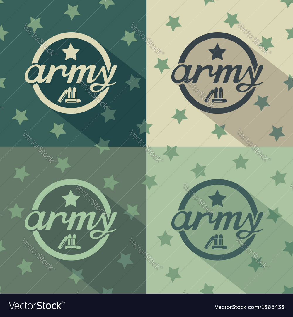 Army seamless signs print vector | Price: 1 Credit (USD $1)