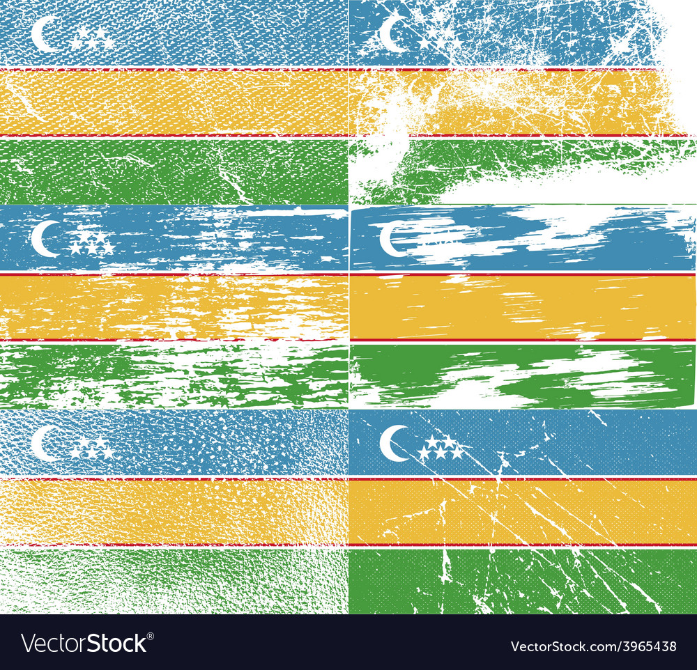 Flag of karakalpakstan with old texture vector | Price: 1 Credit (USD $1)
