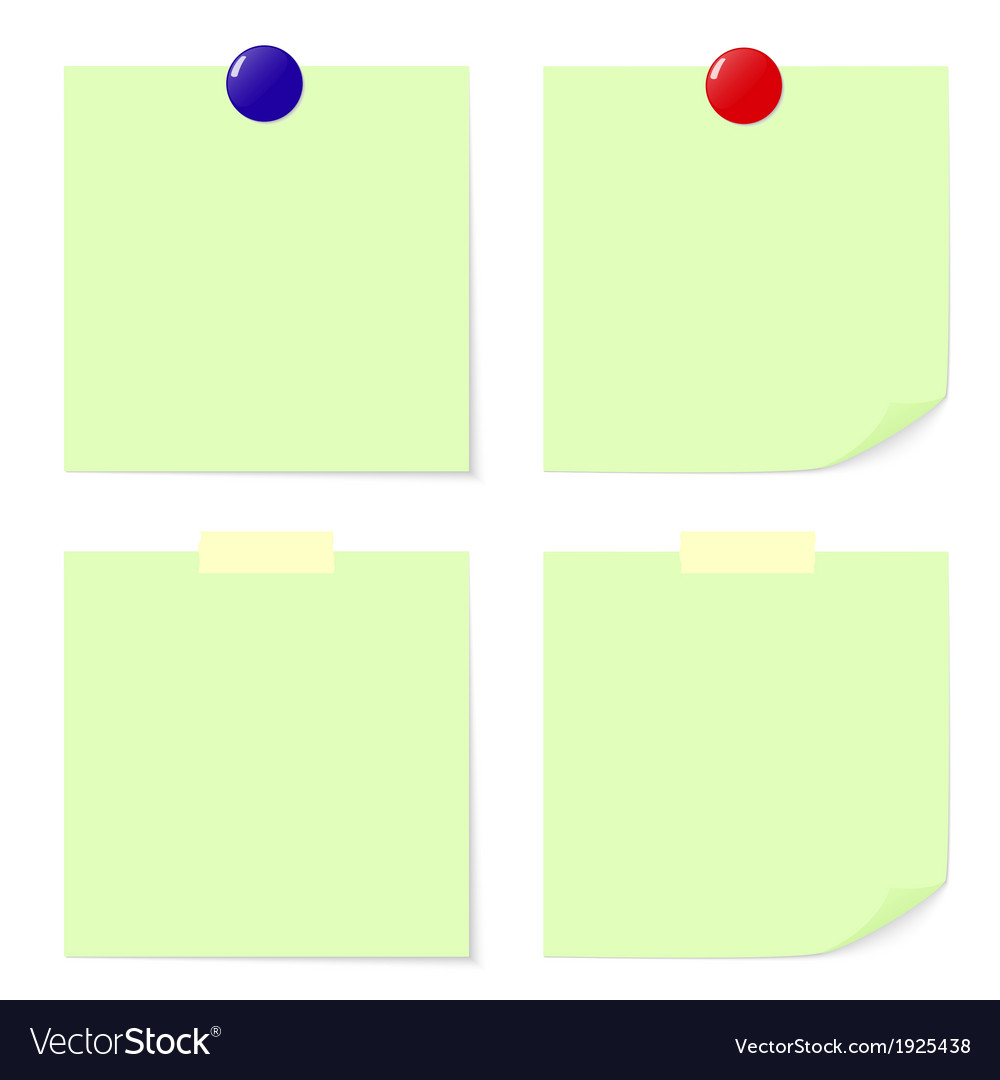 Green stick note vector | Price: 1 Credit (USD $1)
