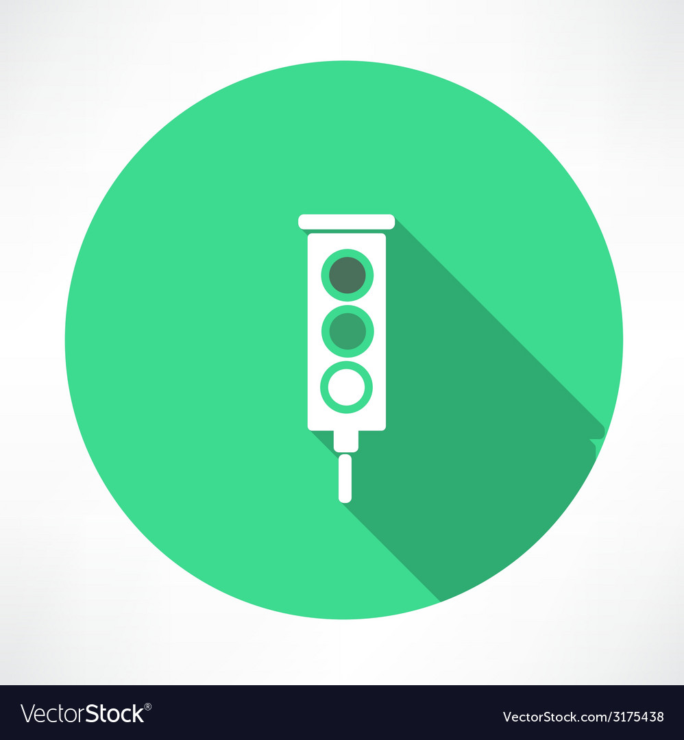 Green traffic lights icon vector | Price: 1 Credit (USD $1)