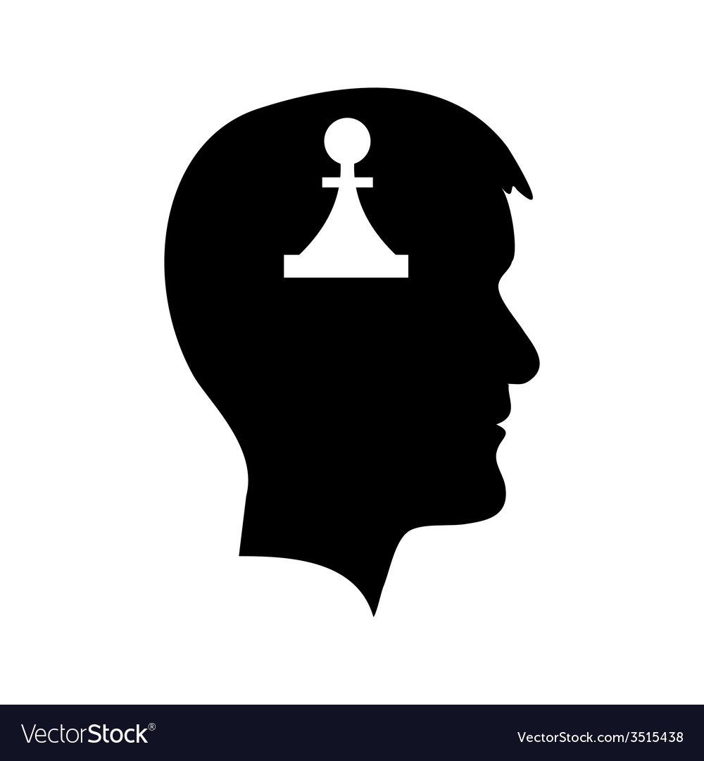 Man head with piece vector | Price: 1 Credit (USD $1)