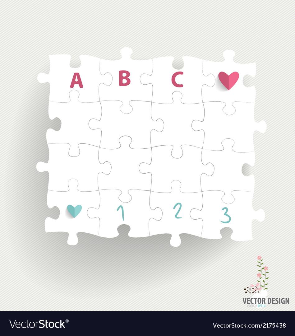Paper cut of puzzle vector | Price: 1 Credit (USD $1)