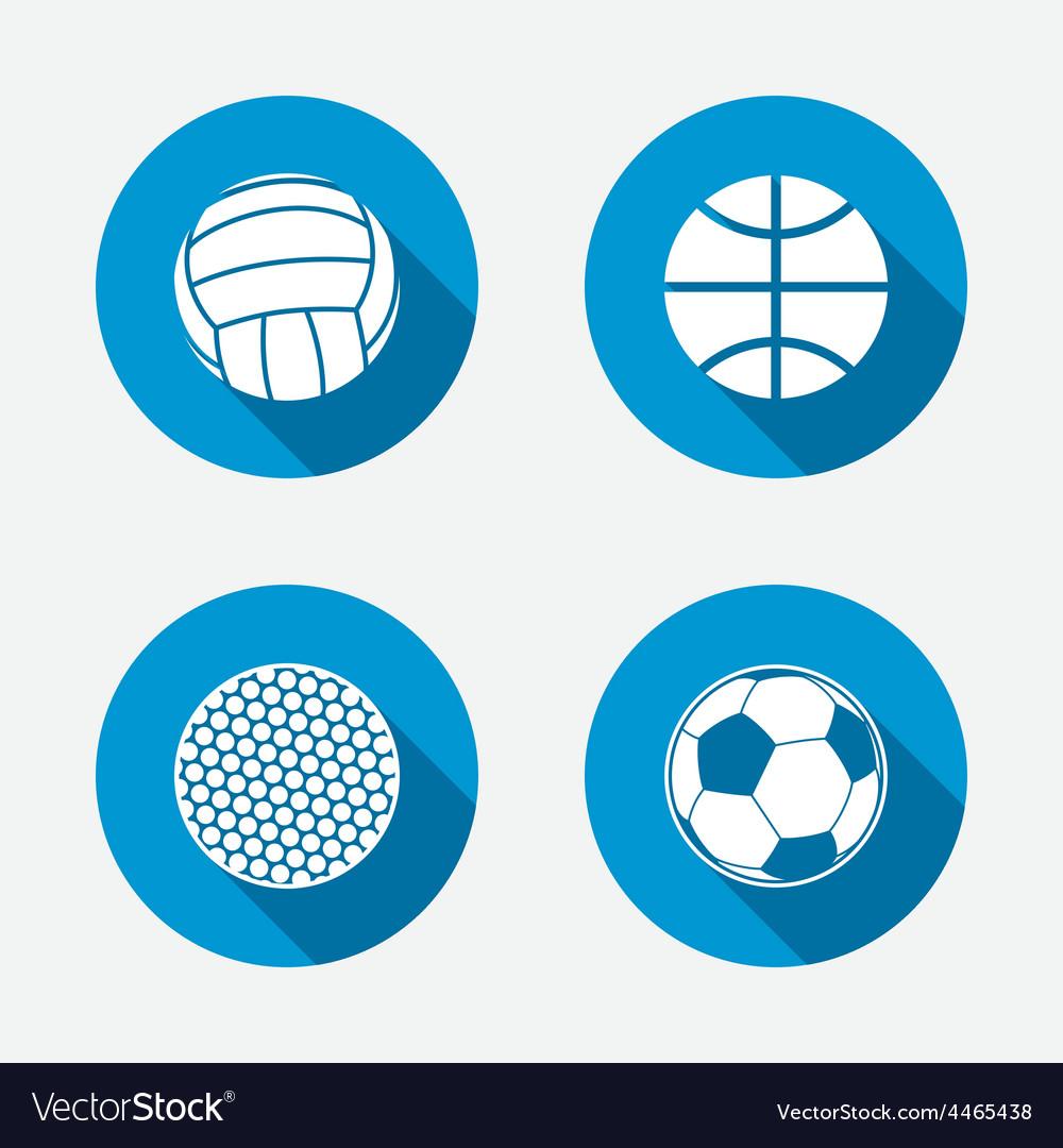 Sport balls volleyball basketball soccer vector | Price: 1 Credit (USD $1)