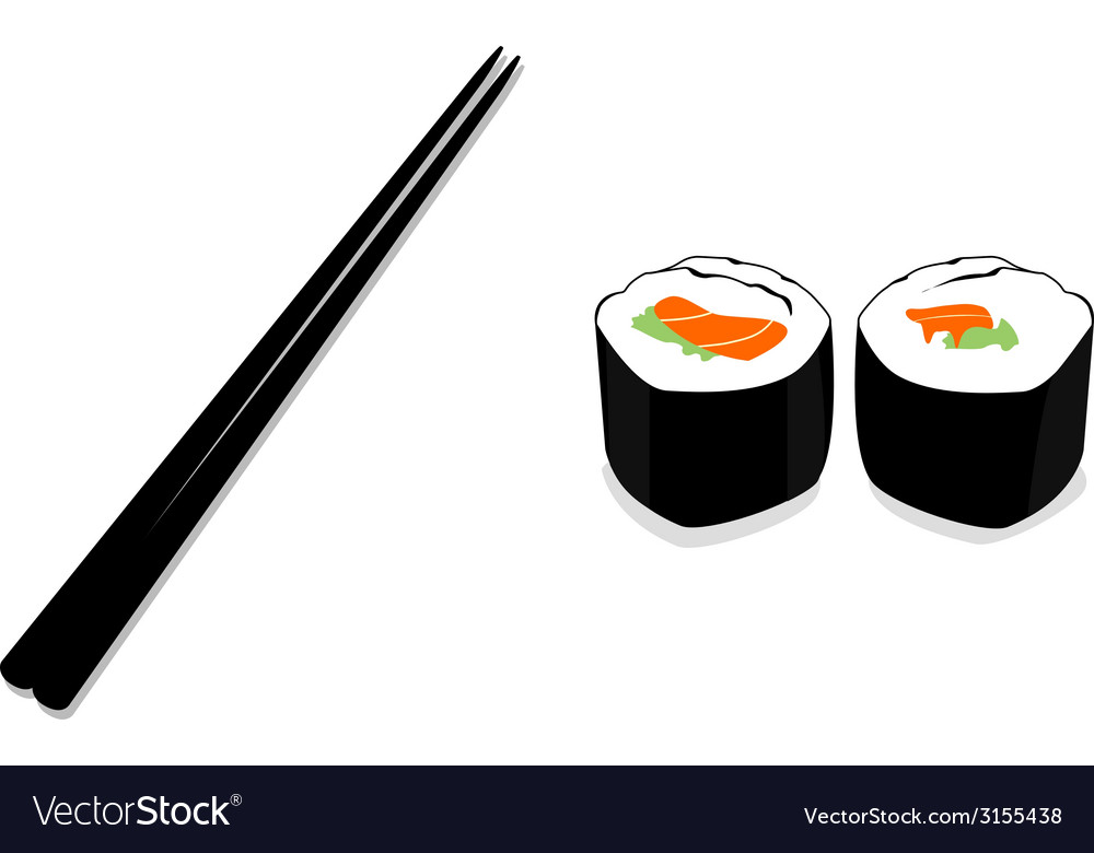 Sushi chopstick vector | Price: 1 Credit (USD $1)