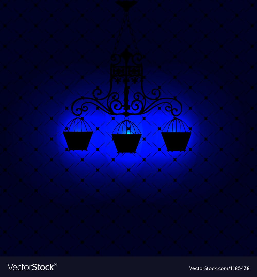 Vintage background with chandelier vector | Price: 1 Credit (USD $1)