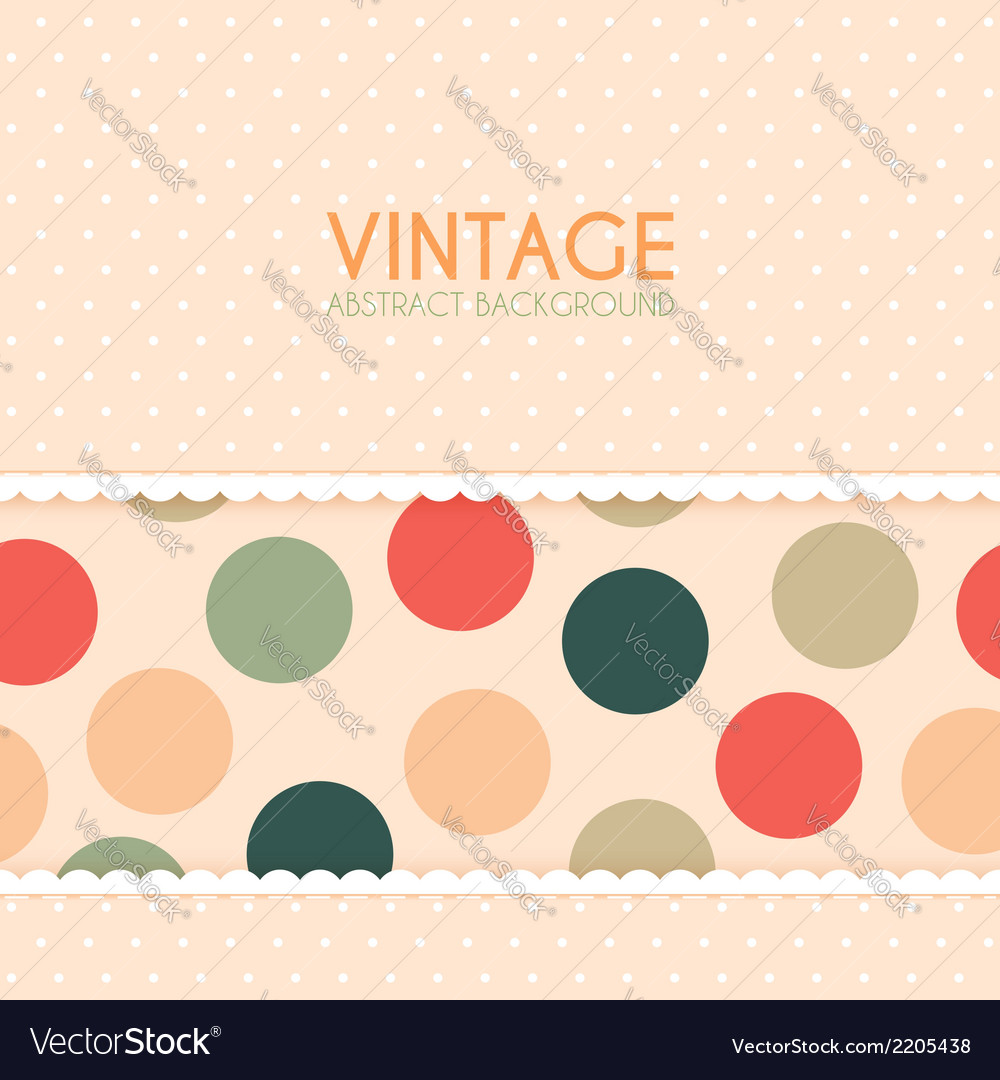 Vintage background with polka dots pattern vector | Price: 1 Credit (USD $1)