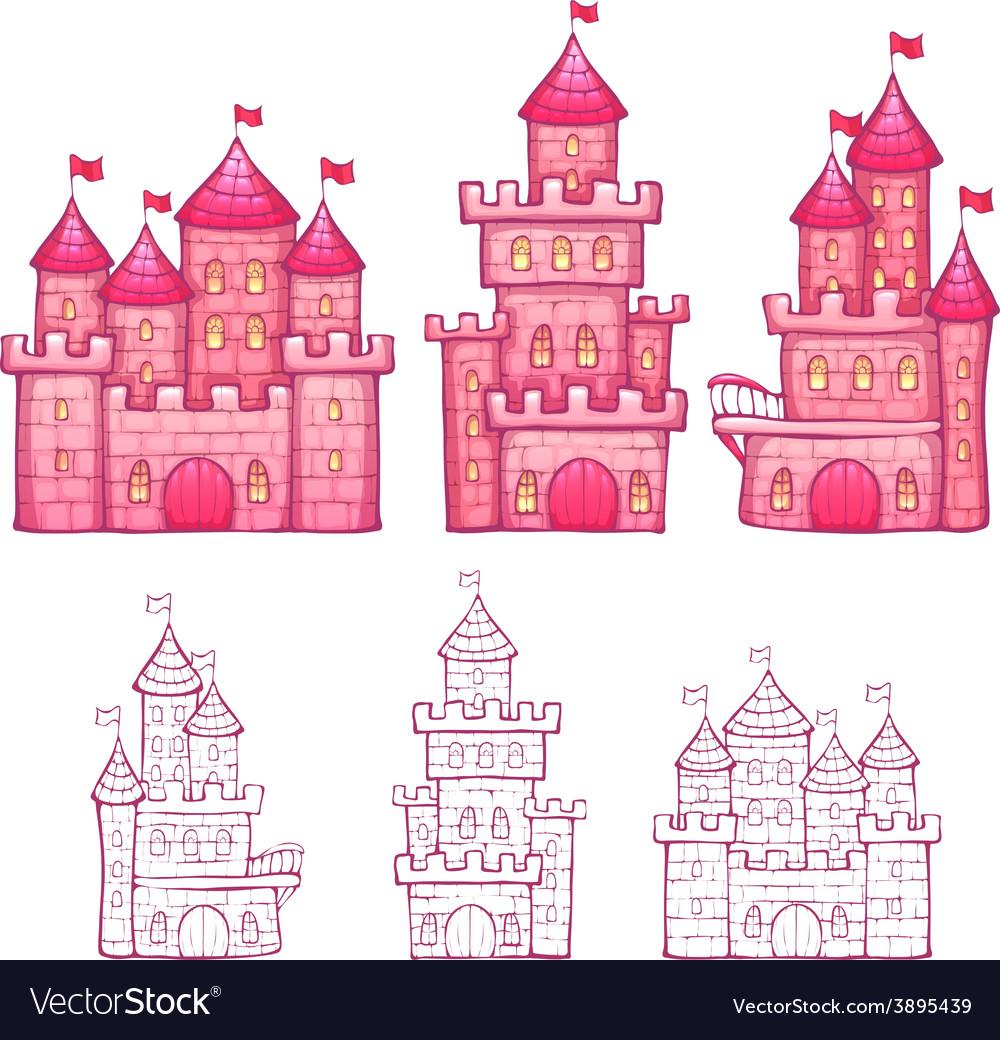 Cartoon fairy tale castle vector | Price: 1 Credit (USD $1)