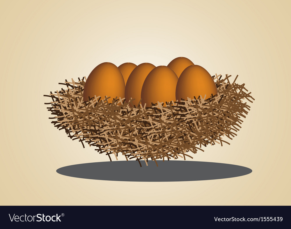 Eggs in birdnest vector | Price: 1 Credit (USD $1)