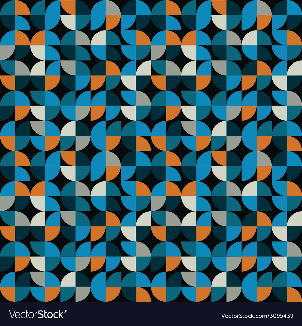 Geometric seamless mosaic tiles pattern vector | Price: 1 Credit (USD $1)