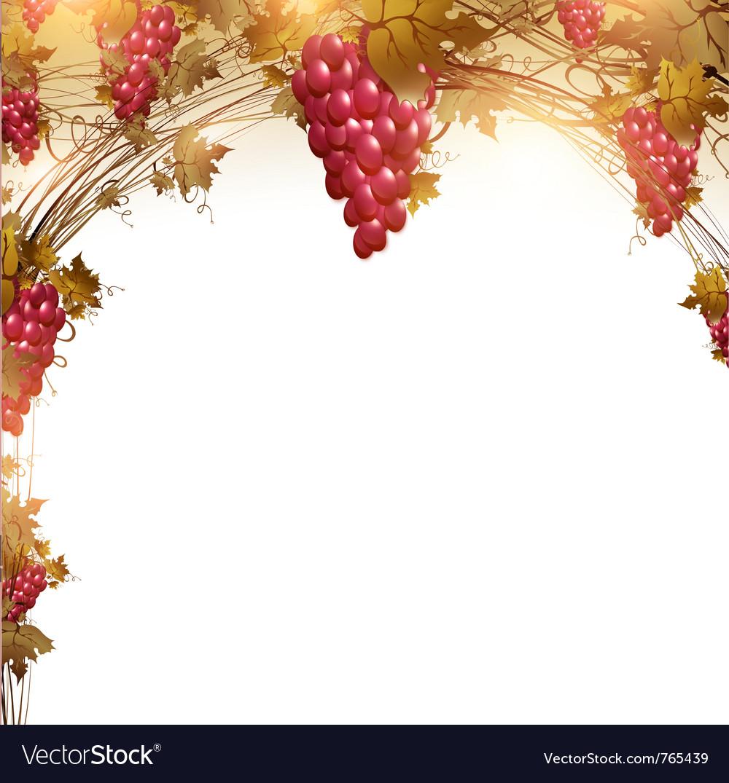 Red grape vine frame vector   Price: 3 Credit (USD $3)
