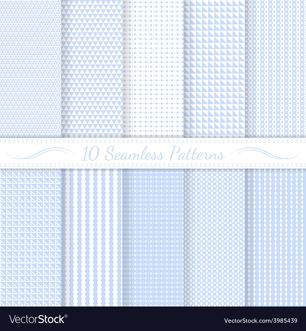 Set of ten subtle seamless patterns vector | Price: 1 Credit (USD $1)