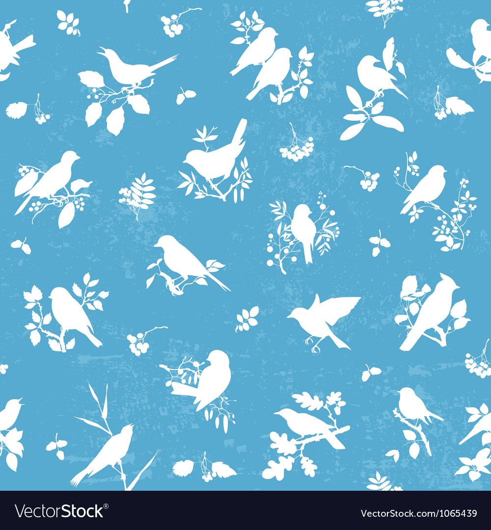Songbirds pattern vector