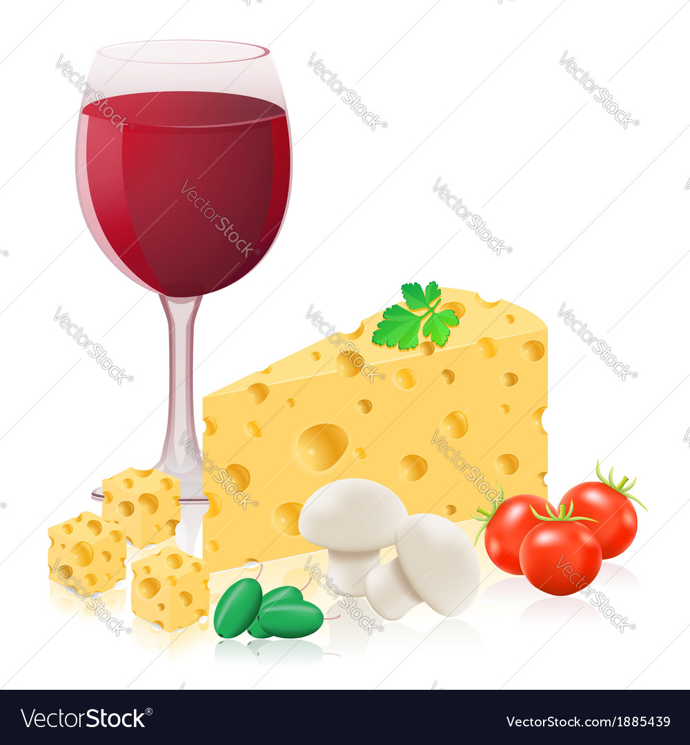 Still life with cheese 02 vector | Price: 1 Credit (USD $1)
