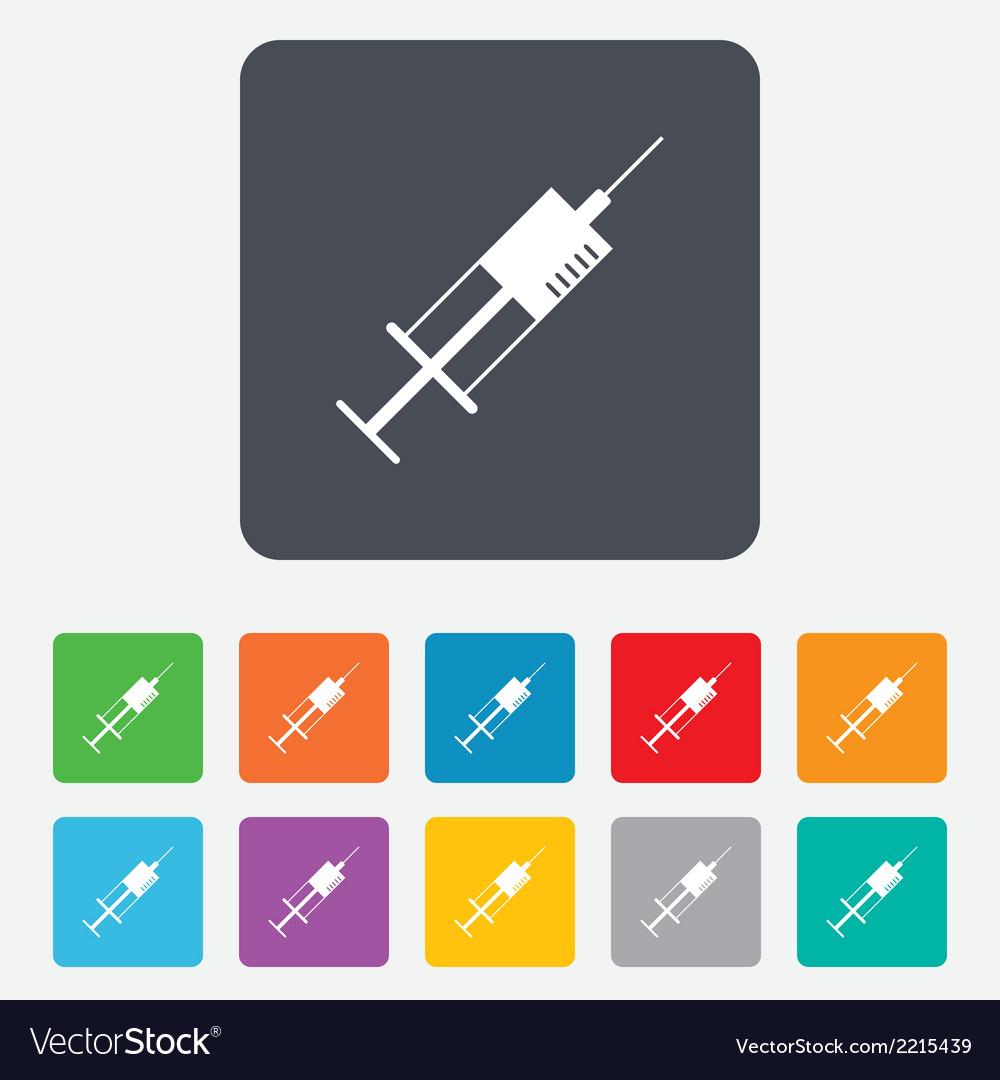Syringe sign icon medicine symbol vector | Price: 1 Credit (USD $1)
