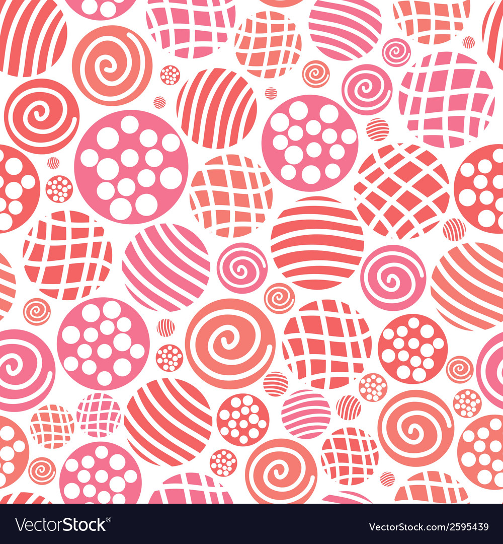 Warm seamless pattern polka dot fabric backgroud vector | Price: 1 Credit (USD $1)