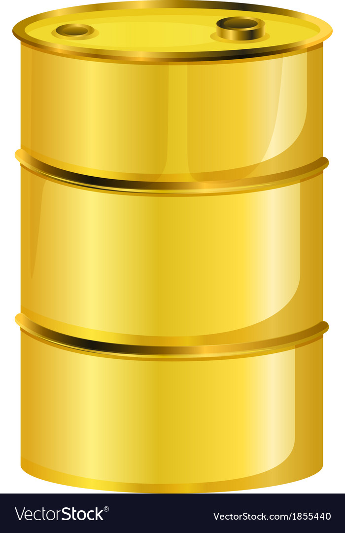 A yellow oil barrel vector | Price: 1 Credit (USD $1)
