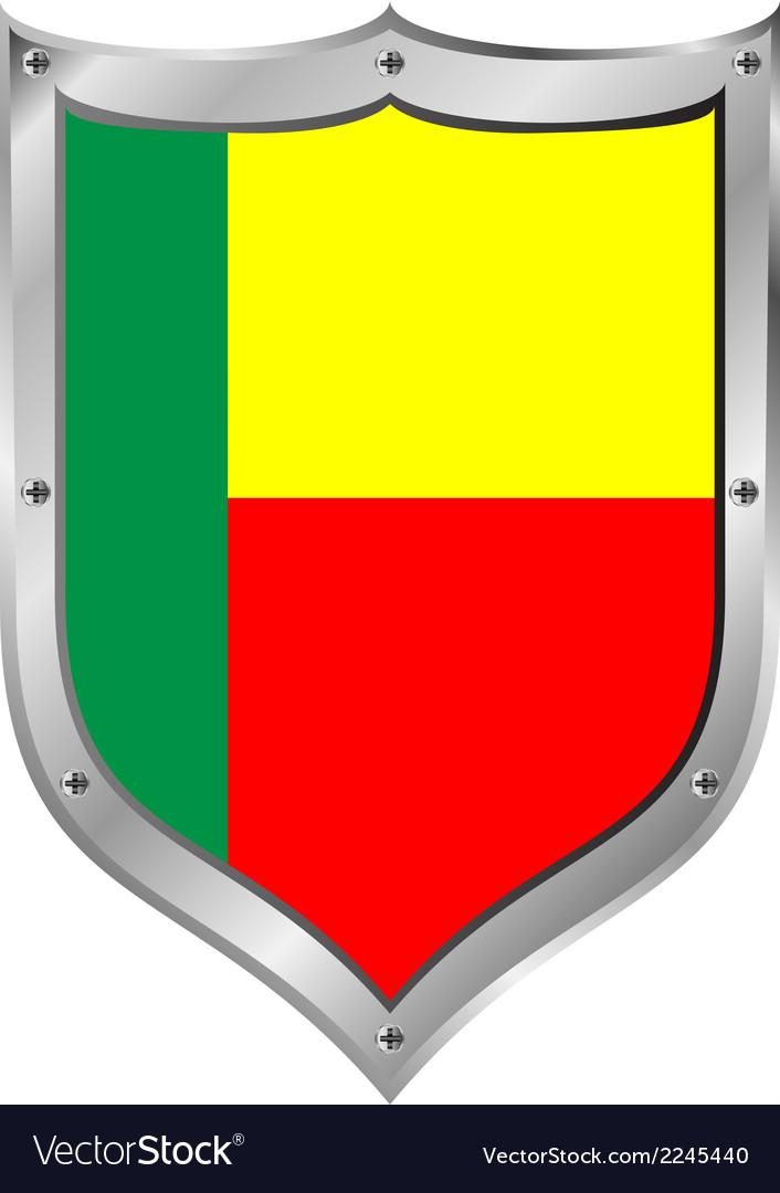 Benin flag button vector   Price: 1 Credit (USD $1)