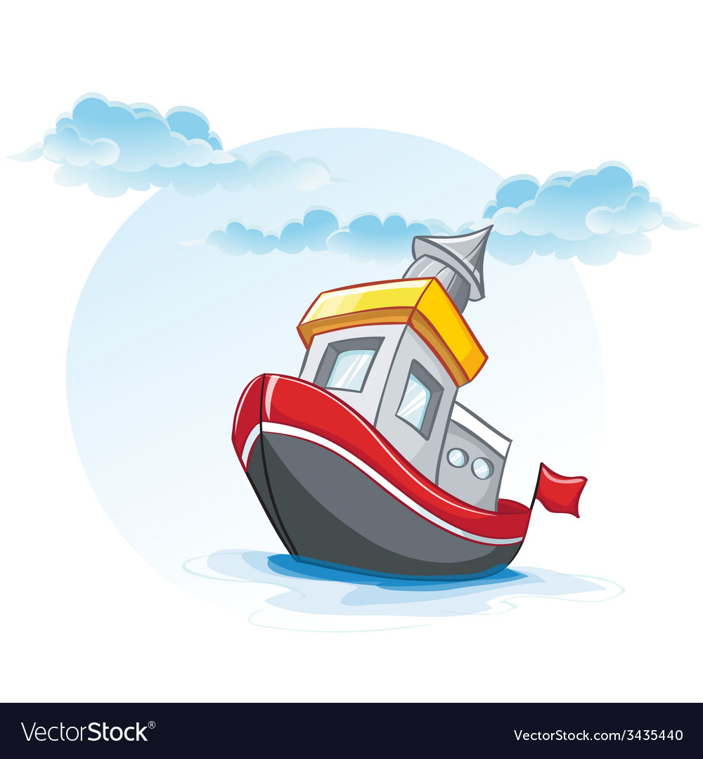 Little cartoon of a ship vector | Price: 1 Credit (USD $1)
