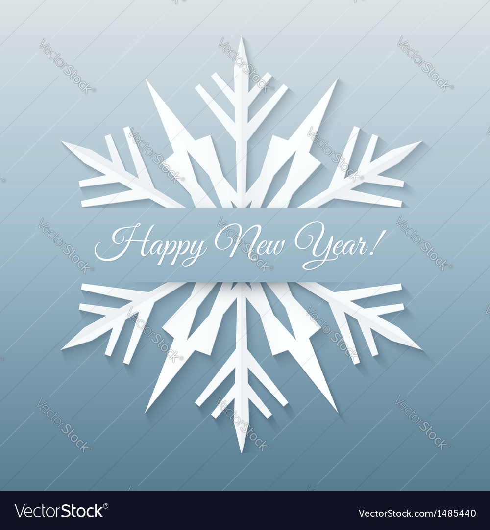 Paper snowflake postcard vector | Price: 1 Credit (USD $1)