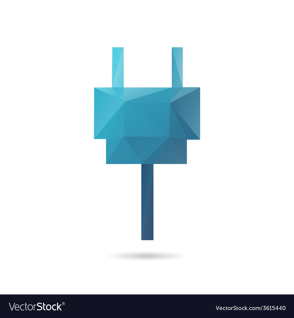 Plug abstract isolated vector | Price: 1 Credit (USD $1)