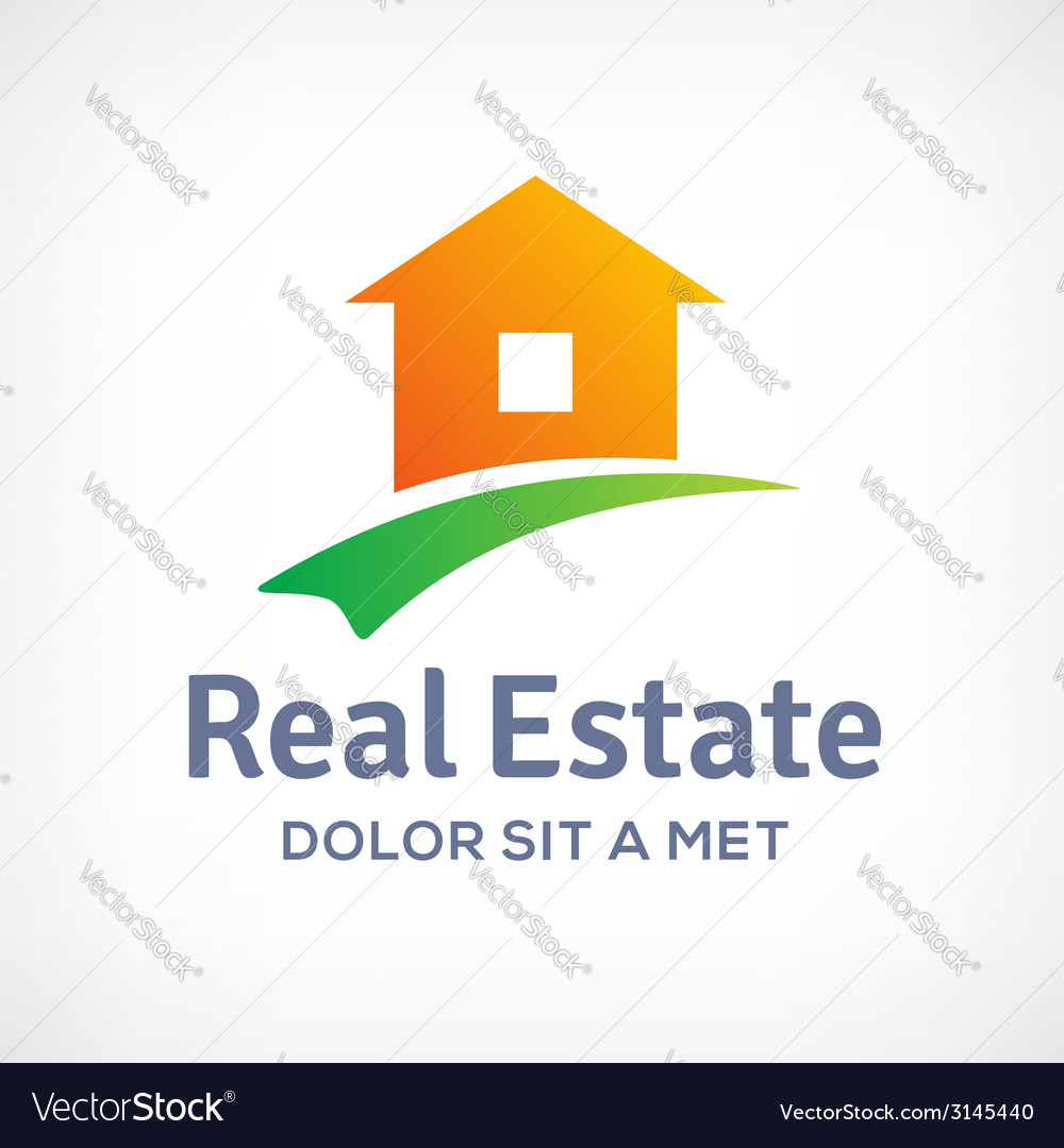 Real estate logo icon design template with house vector | Price: 1 Credit (USD $1)