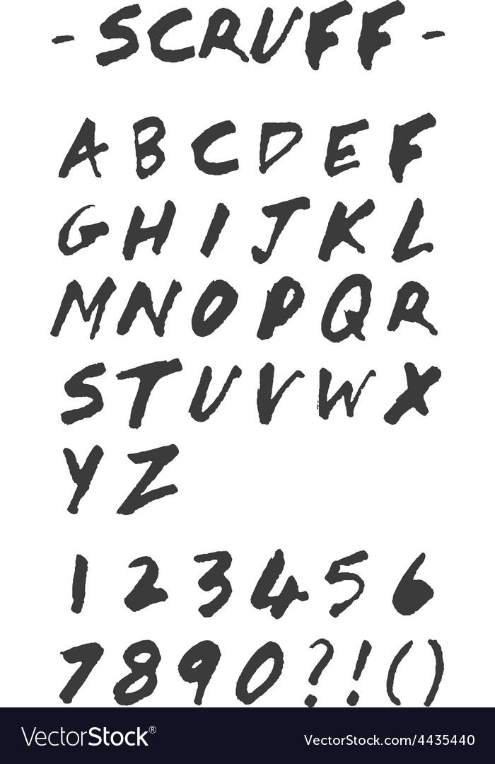 Scruff - hand drawn alphabet vector | Price: 1 Credit (USD $1)