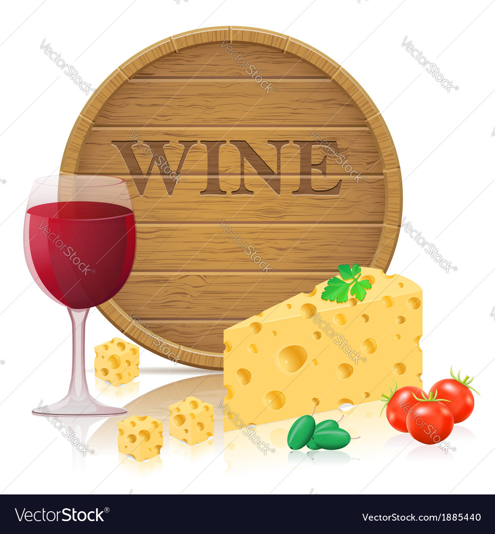 Still life with cheese 03 vector | Price: 1 Credit (USD $1)