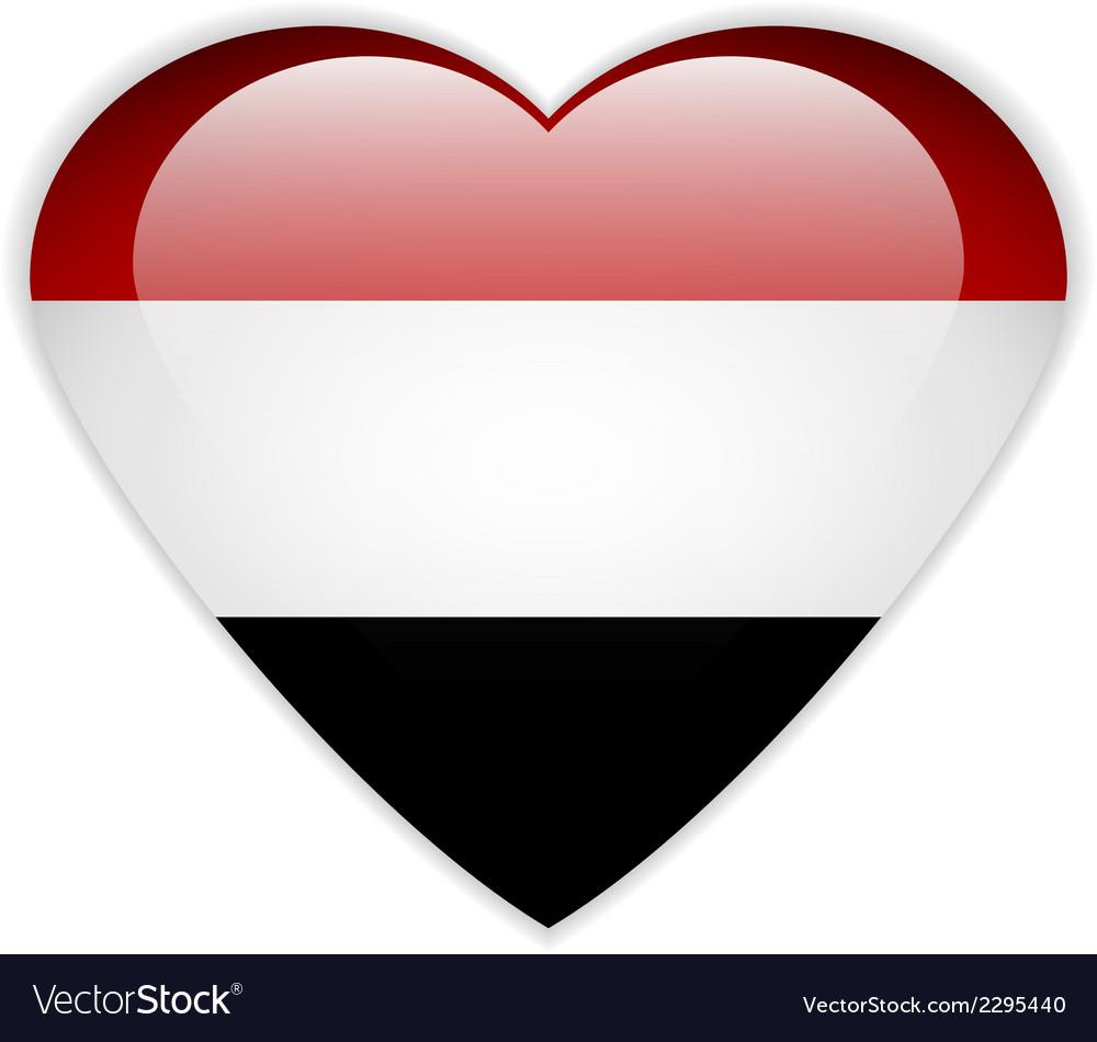 Yemen flag button vector | Price: 1 Credit (USD $1)