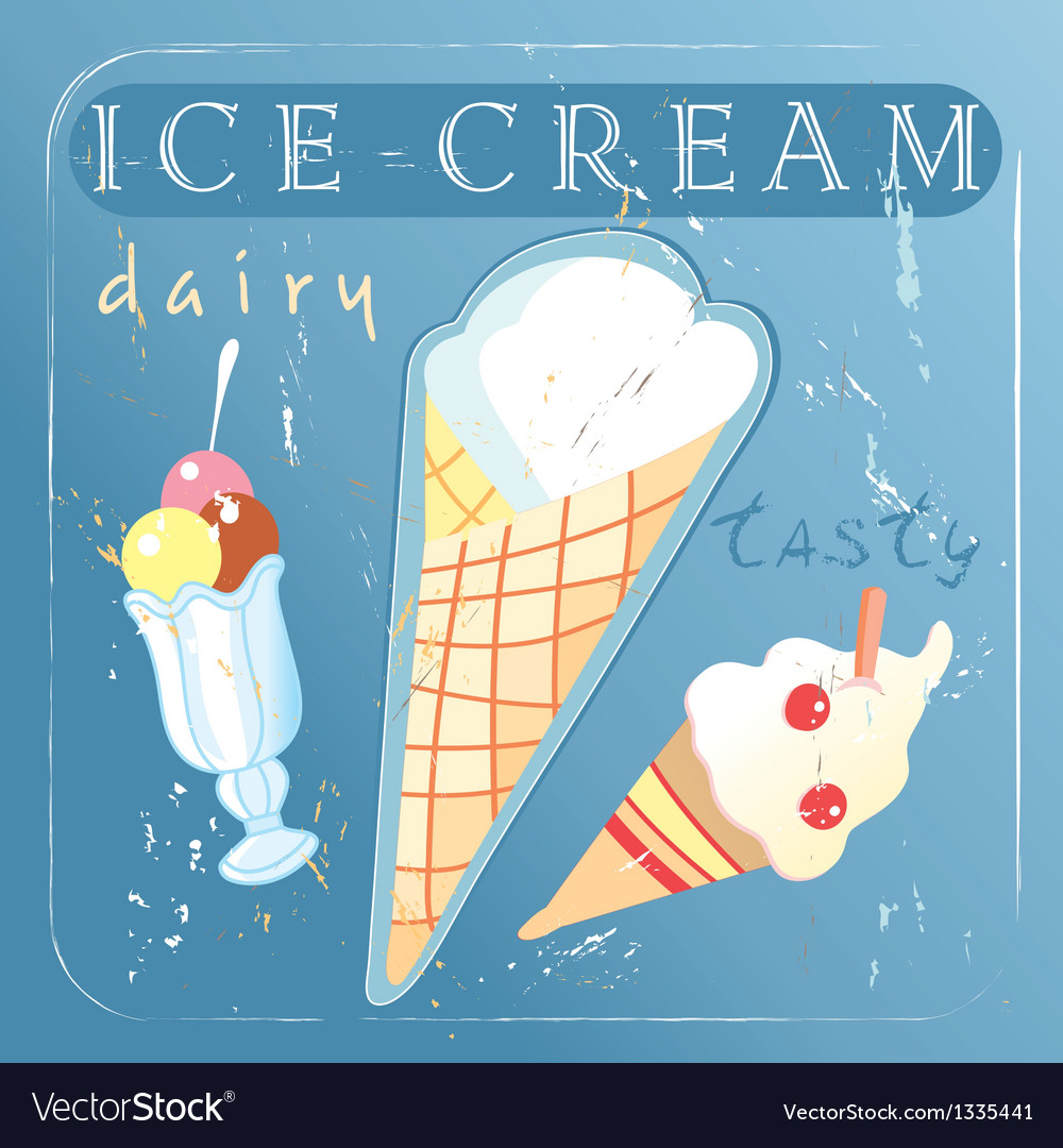 A delicious different ice cream vector | Price: 1 Credit (USD $1)
