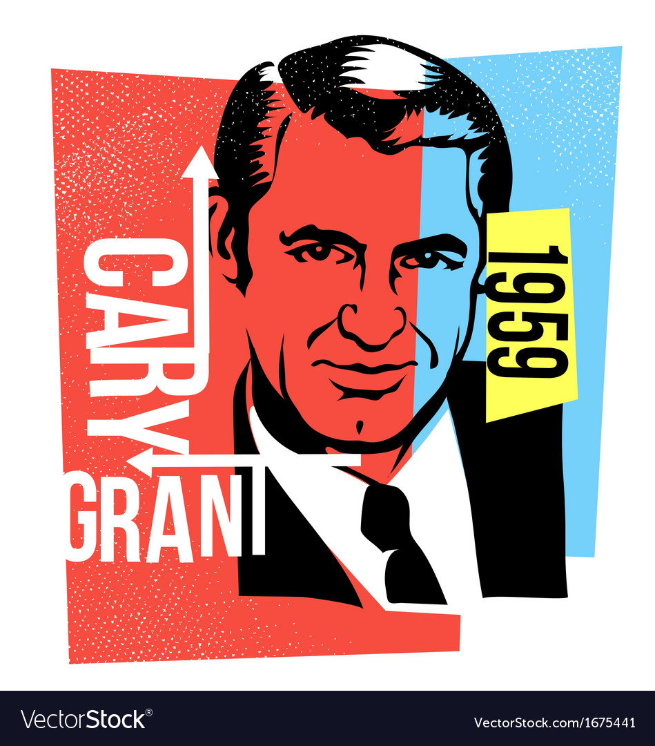 Actor cary grant vector | Price: 1 Credit (USD $1)