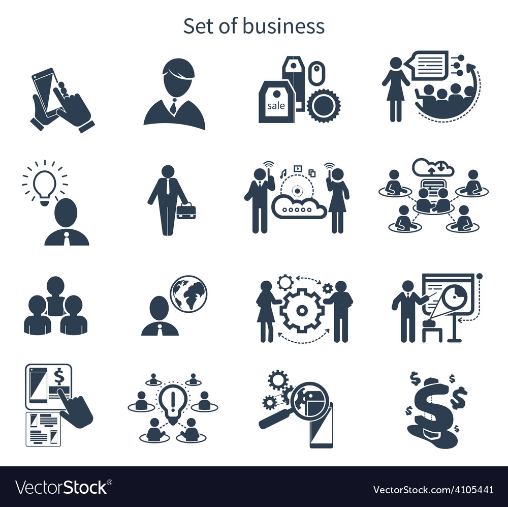 Business presentation teamwork concept icons vector | Price: 1 Credit (USD $1)