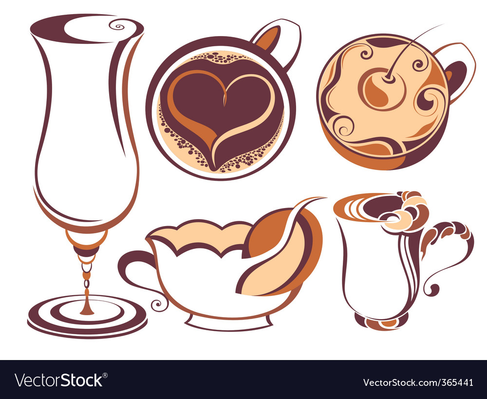 Coffee element set vector | Price: 1 Credit (USD $1)
