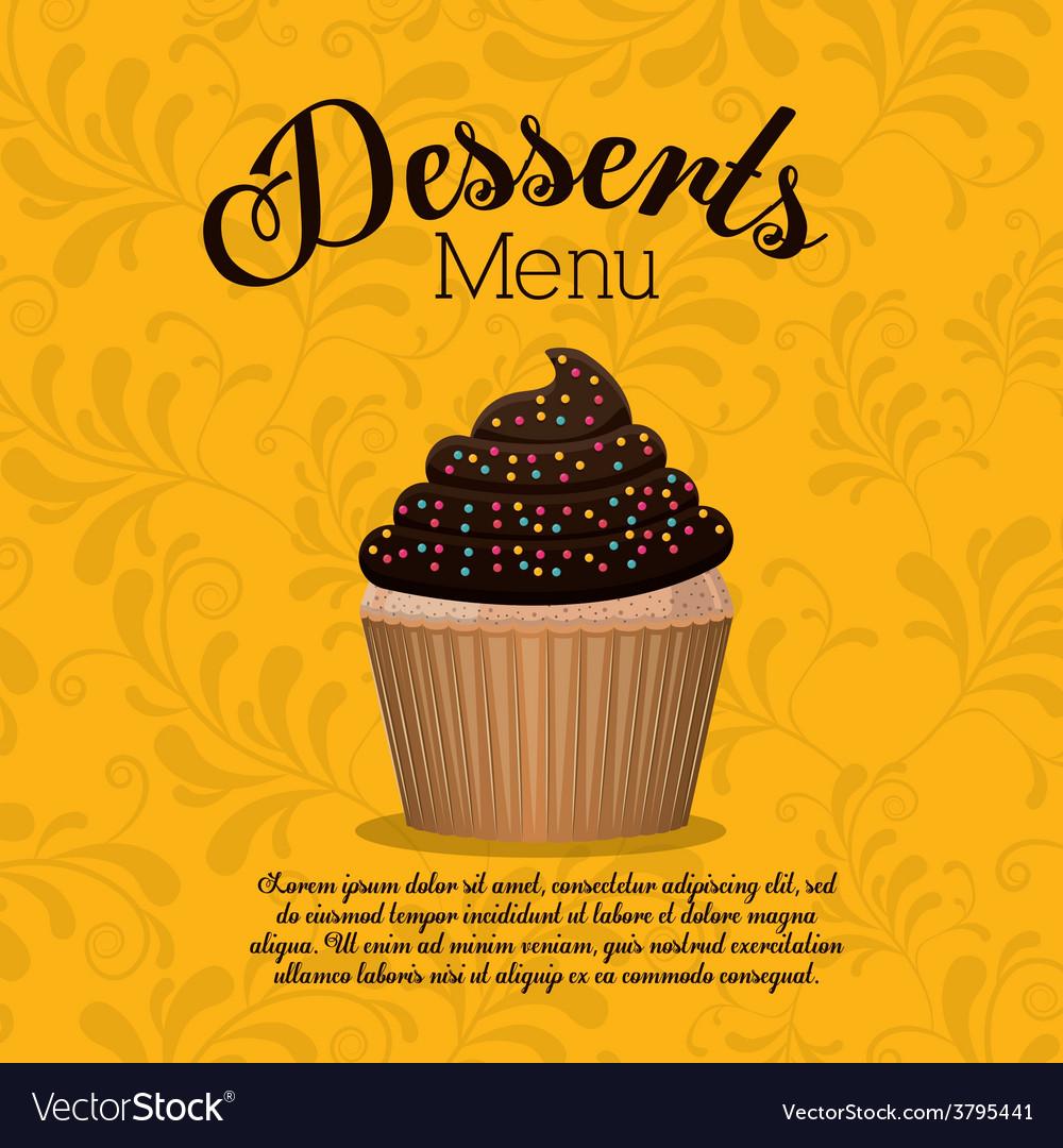 Desserts design vector | Price: 1 Credit (USD $1)