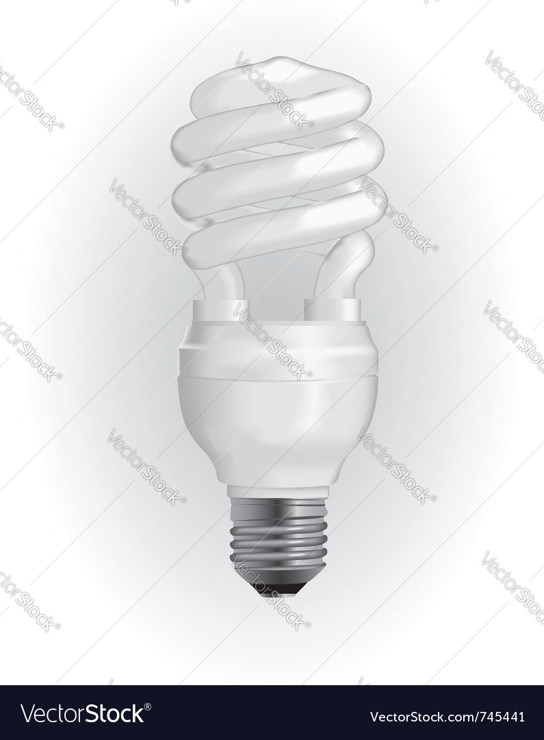 Energy saving light bulb vector | Price: 3 Credit (USD $3)