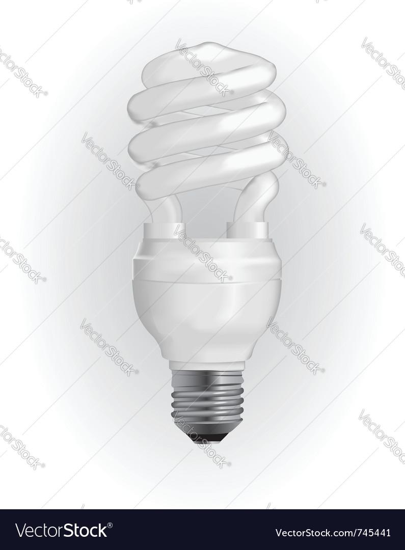 Energy saving light bulb vector | Price: 3 Credit (USD $3)