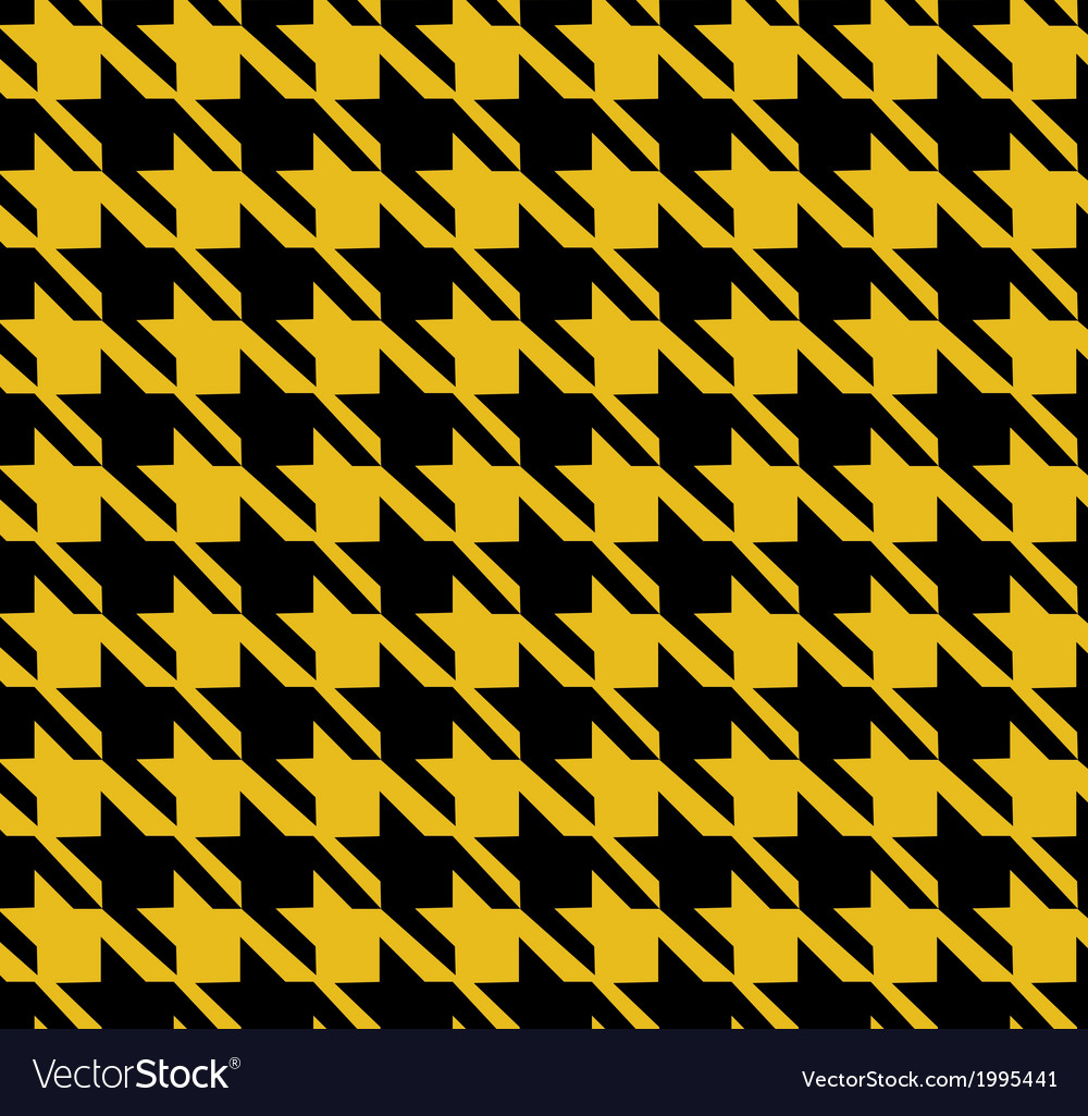 Houndstooth pattern yellow design vector