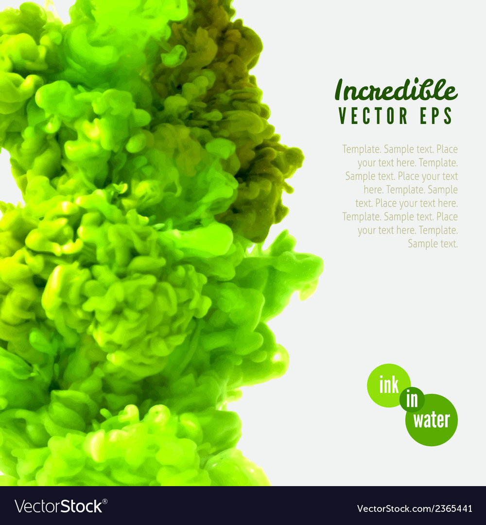 Incredible green ink in water vector | Price: 1 Credit (USD $1)