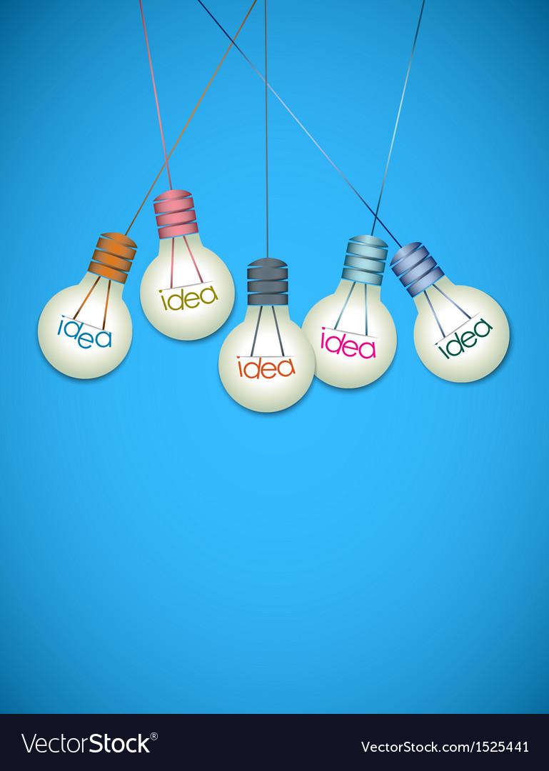Light bulb idea background vector   Price: 1 Credit (USD $1)