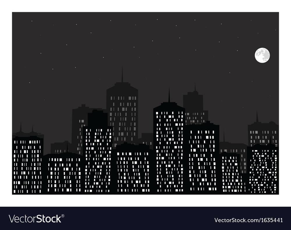 Night city vector | Price: 1 Credit (USD $1)
