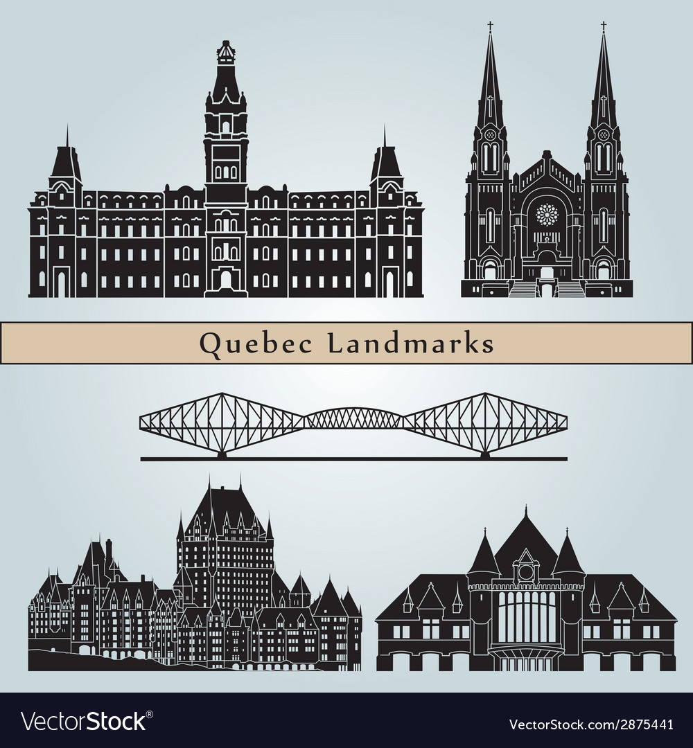 Quebec landmarks and monuments vector | Price: 1 Credit (USD $1)