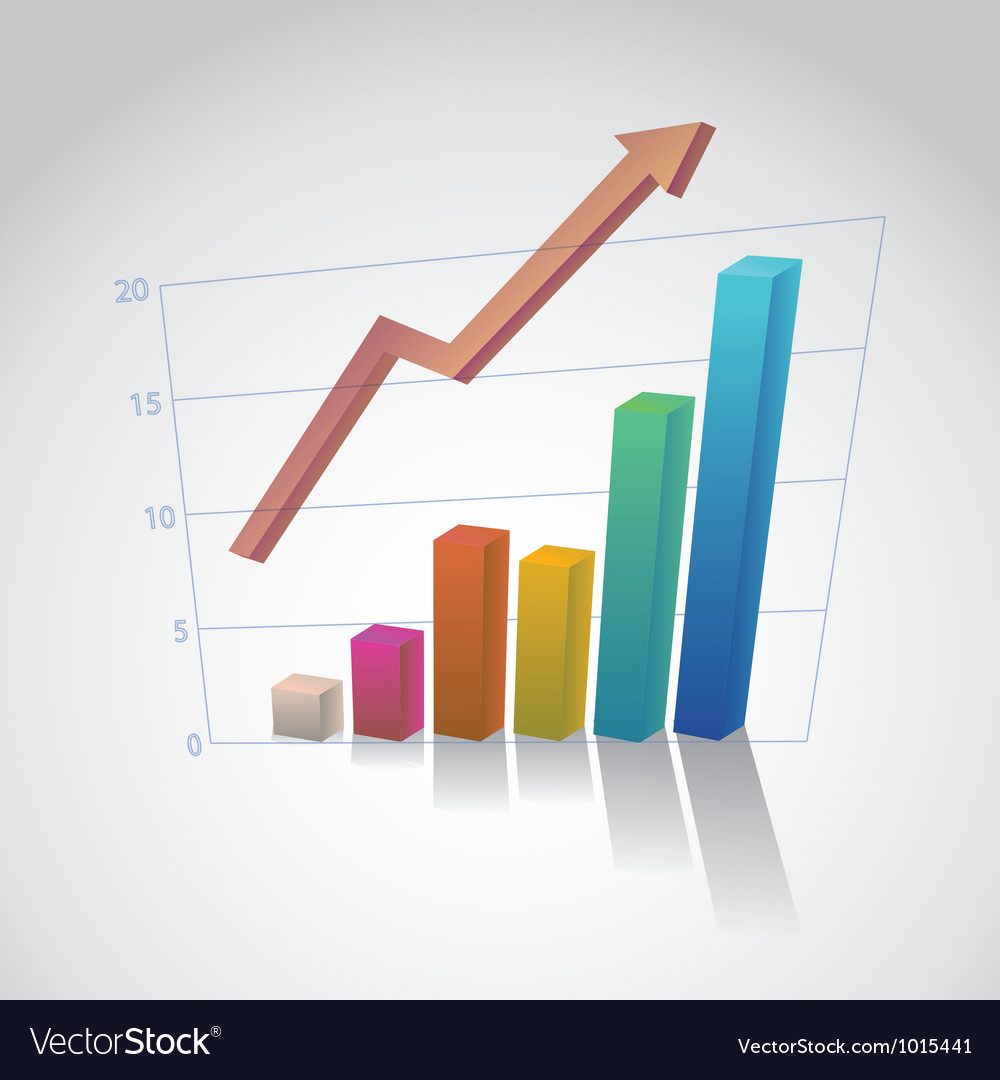 Rising bar graph vector | Price: 1 Credit (USD $1)