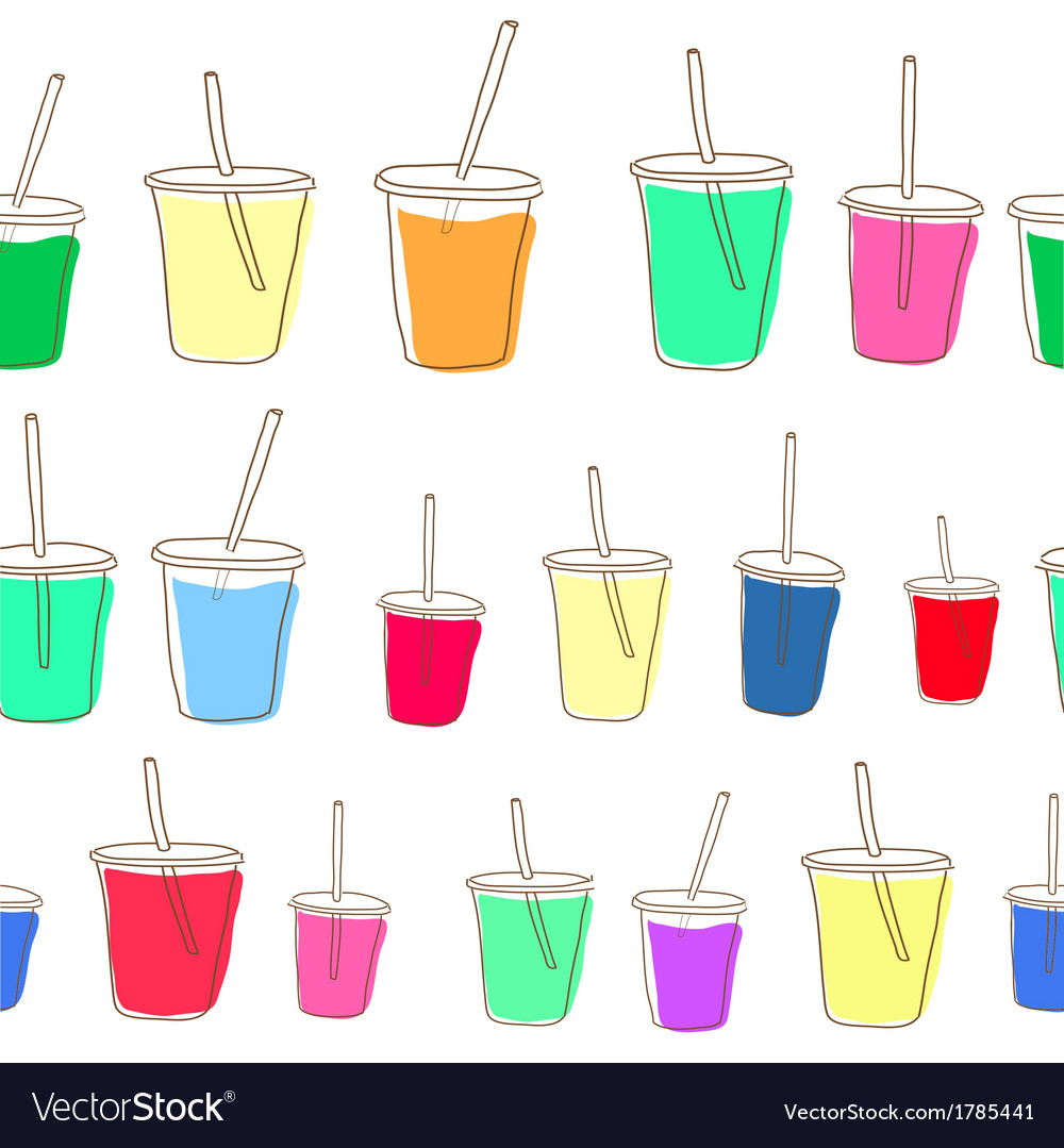Set of milk shake isolated on white background vector | Price: 1 Credit (USD $1)