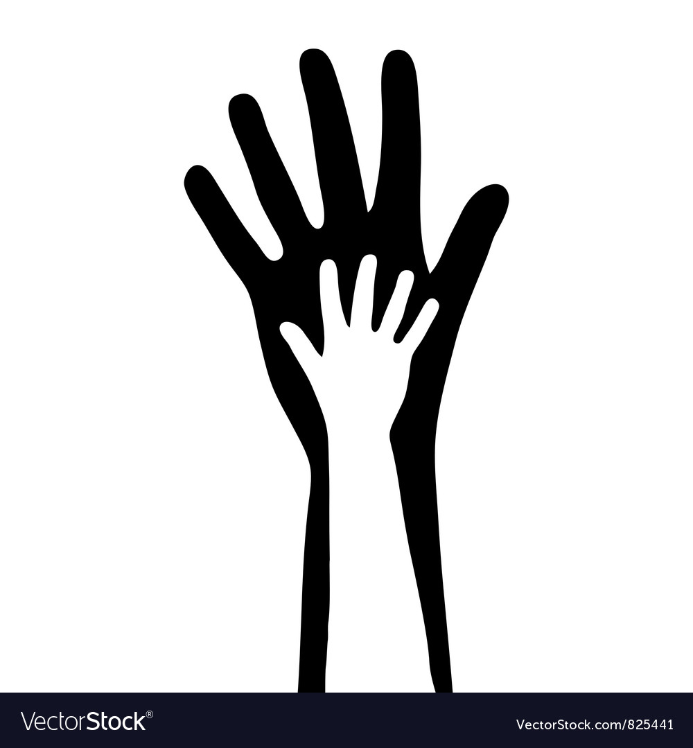 Small and big hands vector | Price: 1 Credit (USD $1)
