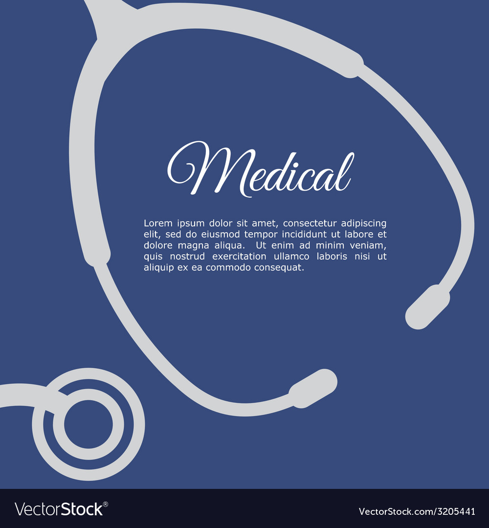 Stethoscope design vector | Price: 1 Credit (USD $1)