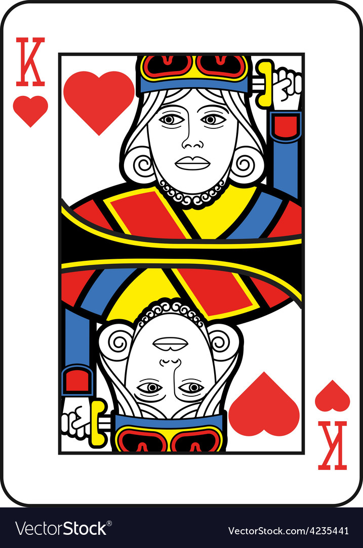 Stylized king of hearts vector | Price: 1 Credit (USD $1)