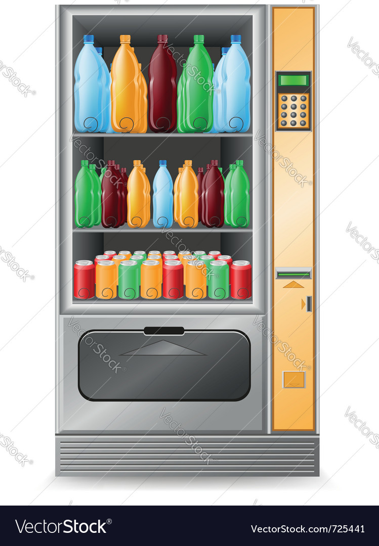 Vending water is a machine isolated on white backg vector | Price: 3 Credit (USD $3)