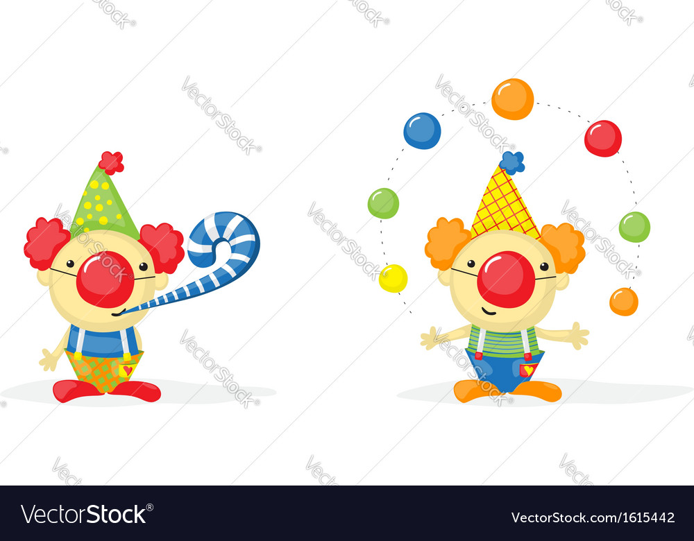 2 clowns vector | Price: 1 Credit (USD $1)