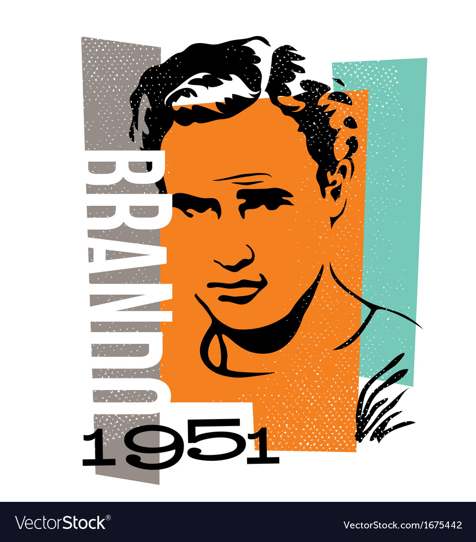 Actor marlon brando vector | Price: 1 Credit (USD $1)